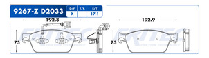 FRITEC SHD-9267-Z-D2033