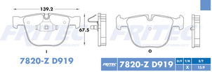 FRITEC SPC-7820-Z-D919
