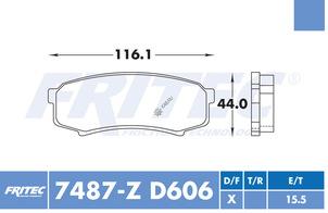 FRITEC SHD-7487-Z-D606