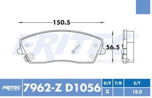 FRITEC SPC-7962-Z-D1056