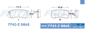 FRITEC SPC-7743-Z-D868