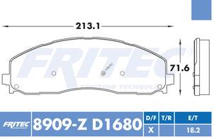 FRITEC SHD-8909-Z-D1680